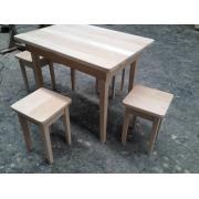 Masa lemn masiv + 4 scaune